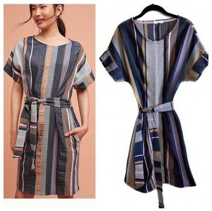 Anthropologie 34N 118W Austen Striped Tunic Dress
